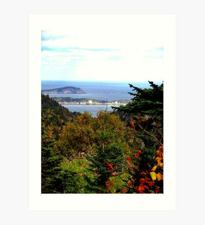 Cabot Trail Vista Art Print