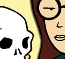 Daria Skeleton Sticker