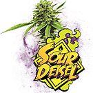 Sour Deisel Marijuana Strain Art by kushcoast