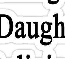 Surfing Is My Daughter's Religion Sticker