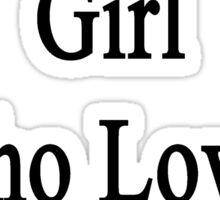 I'm That Cute Girl Who Loves Running Sticker