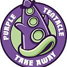 Purple Tentacle Take Away Sticker by cronobreaker