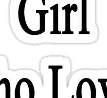 I'm That Cute Girl Who Loves Tennis Sticker