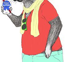 Hipster Easter Rabbit by monkeyjenn