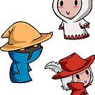 Final Fantasy Chibis - Mage Trio! by TipsyKipsy