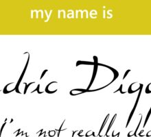 Cedric Diggory Name Tag Sticker