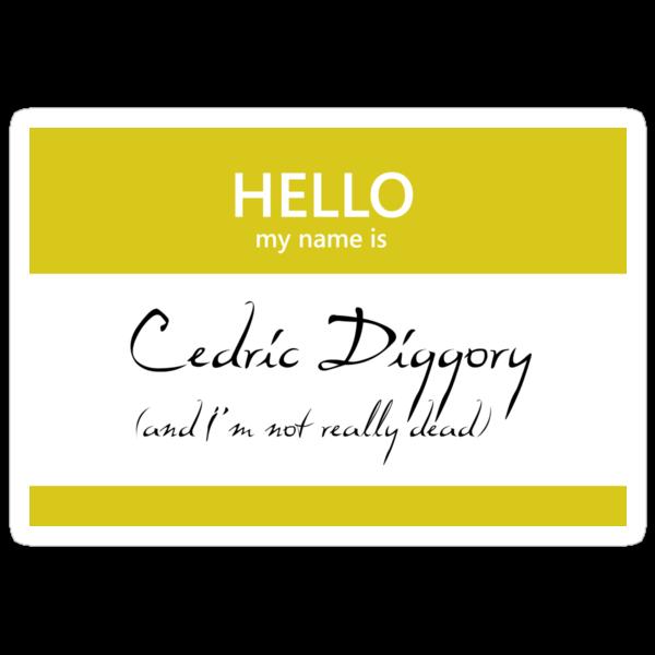 Cedric Diggory Name Tag by Kristina Moy