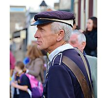 Determined Policeman Photographic Print