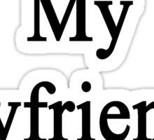 Running Is My Boyfriend's Religion Sticker