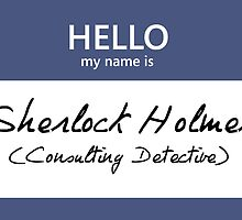 Sherlock Holmes Name Tag by Kristina Moy