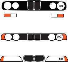 E28, E34, E39 simple headlight and grill design by ApexFibers