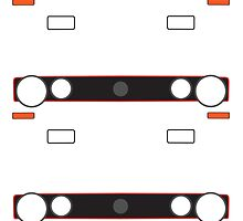 MK1 simple headlight and grill design stickers by ApexFibers