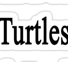 I Will Defend Turtles No Matter What Sticker