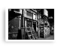 Mono Alley Canvas Print