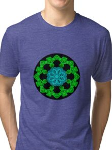 Blue and Green Magic Tri-blend T-Shirt