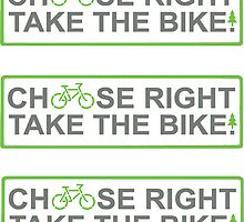 choose right take the bike!  (3 X STICKERS!!) by derP