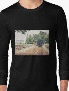 Rainy On Bow Bridge Long Sleeve T-Shirt