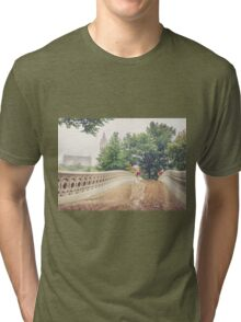 Rainy On Bow Bridge Tri-blend T-Shirt