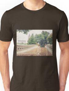 Rainy On Bow Bridge Unisex T-Shirt