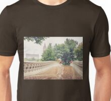 Rainy On Bow Bridge Unisex T-Shirt