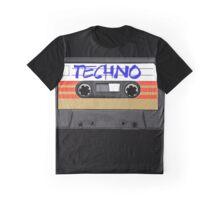 Techno Music Cassette Tape Graphic T-Shirt