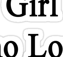Here Is A Girl Who Loves Pigs Sticker