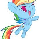 Chibi Rainbow Dash by JimHiro