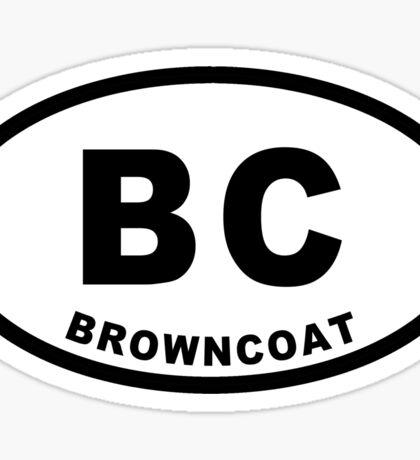 Browncoat - Euro Sticker Sticker