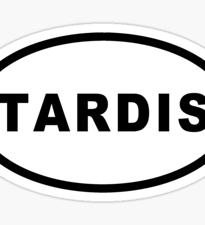 TARDIS Euro Sticker Sticker