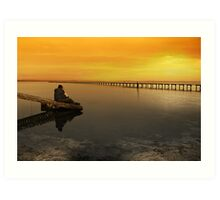 Sittin' on the dock of the bay Art Print