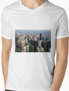 Midtown Manhattan Mens V-Neck T-Shirt