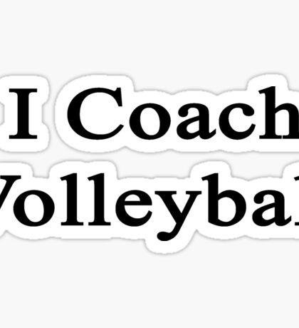 I Coach Volleyball  Sticker
