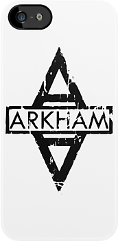 Arkham Logo (Light) by Justin Oberg