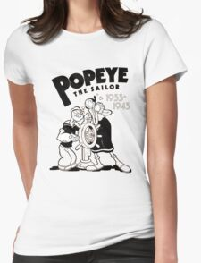 love popeye Womens Fitted T-Shirt