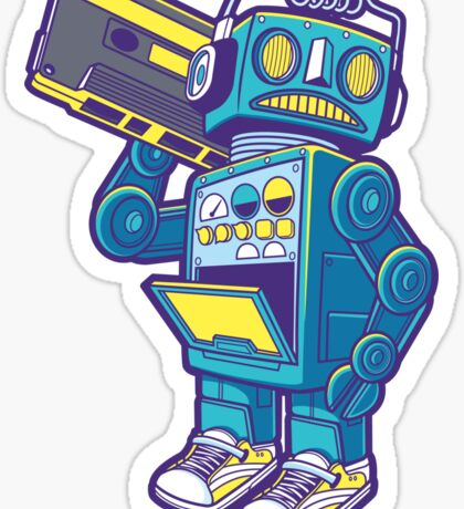 Robot Kicks Sticker