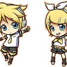 Vocaloid - Kagamine Rin/Len set by banafria