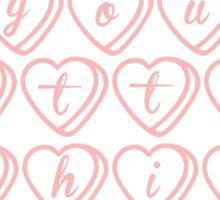 you little sh*t--hearts Sticker