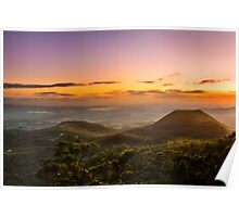 Mt Tabletop Sunrise Christmas Day 2011 Poster