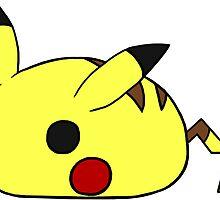 Chubby Pikachu by RubyTruffles