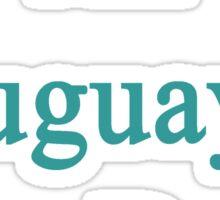 An Uruguayan Can Do It  Sticker