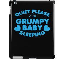 Quiet please GRUMPY BABY SLEEPING iPad Case/Skin