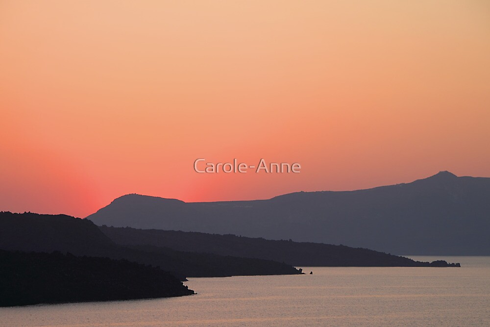 Sunset at Santorini by Carole-Anne