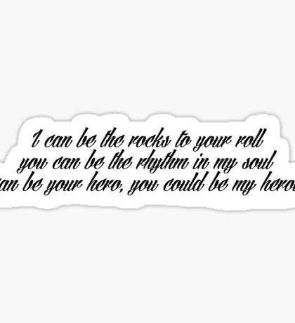 Rhythm In My Soul- Jonny Craig Sticker