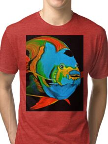 Angel Fish Swimming in the Sea Tri-blend T-Shirt