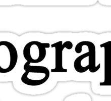 I Am A Geography Teacher  Sticker