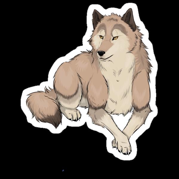 Wolf Sticker by Hannah Golden