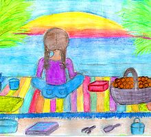 beach girl by Hbeth