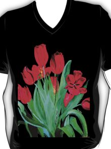 Bunch of Red Tulips T-Shirt