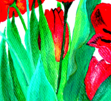 Bunch of Red Tulips Sticker