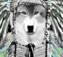 Indian chief wolf  Sticker